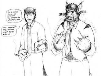 Trevor the Cool Werewolf by SergioPricklywolf