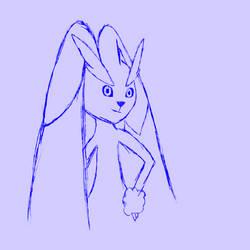 Lopunny Sketch by DSthewolf