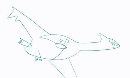 Latias Sketch by DSthewolf
