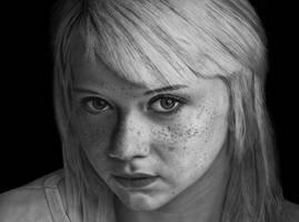 Maedchen mit Sommersrossen (girl with freckles) by Ziemann65