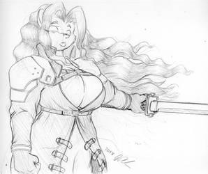 2017 Whitney Bonus Sketch #10: Sephiroth by PeterAndCompany