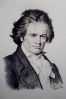 Ludwig Van Beethoven portrait by Raimondsy