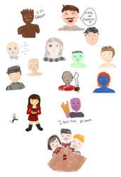 Marvel characters by KoalaVolant
