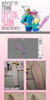 Fionna Crystal Sword Construction Process by AnyaPanda