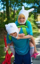 Adventure Time: Piggyback To Adventure by AnyaPanda
