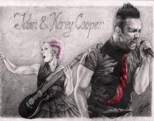 John and Korey Cooper by Alvardy