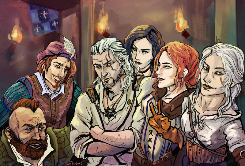 the Witcher crew by MadVanilia
