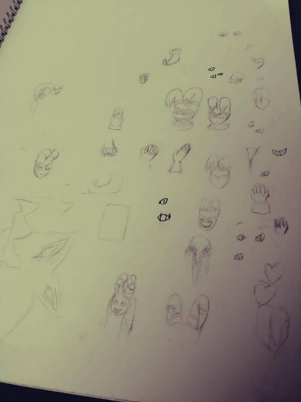 sketch dump by BLOODYALICE22