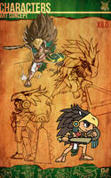 Aztec Xilo_Art Concept - Xilo by Team4Taken