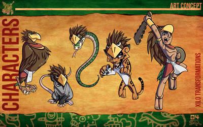 Aztec Xilo_Art Concept - Xilo Transformations by Team4Taken