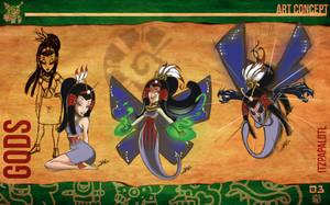 Aztec Xilo_Art Concept - Itzpapalotl by Team4Taken