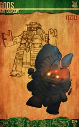 Aztec Xilo_Art Concept - Itztli by Team4Taken