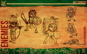 Aztec Xilo_Art Concept - Tlaxcalan Warriors by Team4Taken