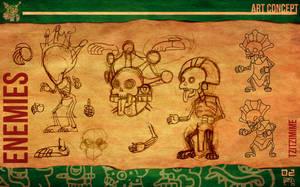Aztec Xilo_Art Concept - Tzitzimime by Team4Taken