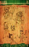 Aztec Xilo_Art Concept - Aztec Warriors by Team4Taken
