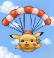 Happy Pikachu by 1022