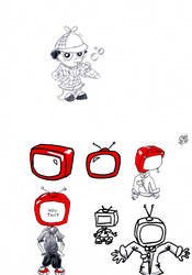RED character design: TV kid by A-DoubleH-X