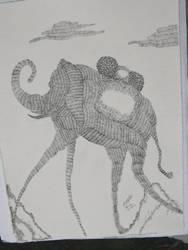 ELEPHANT DALI STYLE TRIBUTE by KyubiNabruto