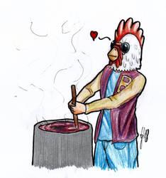Jacket's cooking by LoboTaker