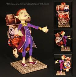 Happy Mask Salesman Papercraft by Drummyralf