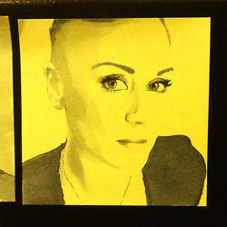 Post-it Portrait: Mandy by emotionography