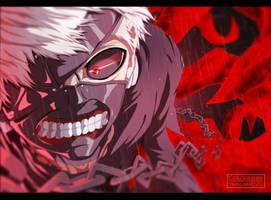 Tokyo Ghoul - Ken Kaneki [Coloring] by II-Trinuma-II