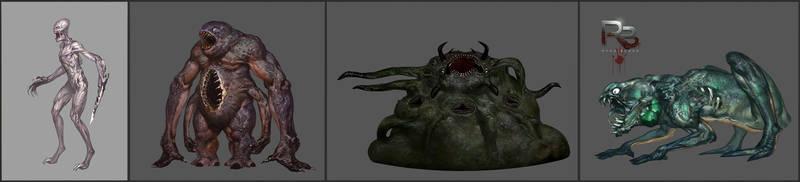 Monster concept art by ArtVorteX