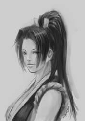 Mai Shiranui sketch by Solusemsu