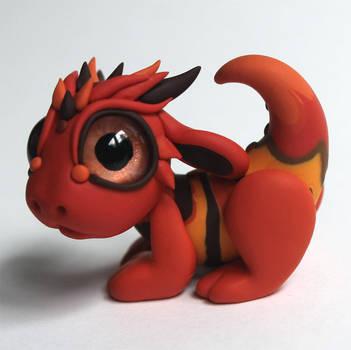 Tiger Stripe Baby Dragon 2 by BittyBiteyOnes