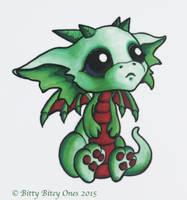 Green Bitty Bitey Baby Dragon by BittyBiteyOnes