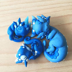 Sleeping Blue Babies by BittyBiteyOnes