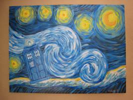 Starry Tardis Night by IamDeirdre