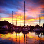 Caribbean sunset by wphotography