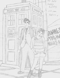 The Doctor and Baywatch by Cornish-Ninja