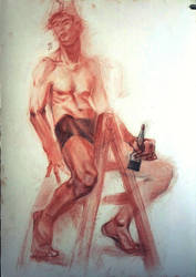 Study in Sanguine and Charcoal by ignilibrium