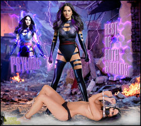 Olivia Munn as Psylocke, Best of Both Worlds by lordvadersempire