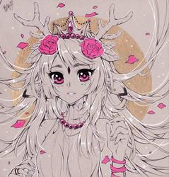 Deer Lady by KishiShiotani