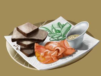 Gourmet Food Plate by ugotrabs