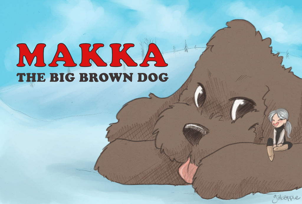Makka The Big Brown Dog by gabapple