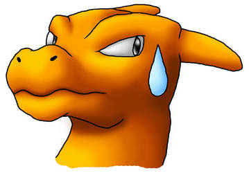 Sweat-dropping Charizard by antialiasis