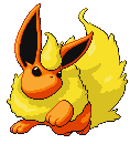 Leaping Flareon by antialiasis