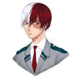 Shouto Todoroki by minttarro