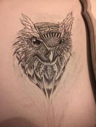 Owl Wall Sketch by Tom Yakovlev by InkedOnyx