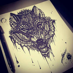 Wolf in Ink by InkedOnyx