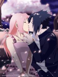 Commission:SASUSAKU first kiss by annria2002