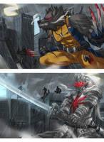 Wolverine Warwick and Silversamurai Yi by Exaxuxer