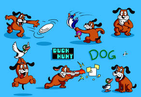 Duck Hunt Dog SSB colored by mattdog1000000