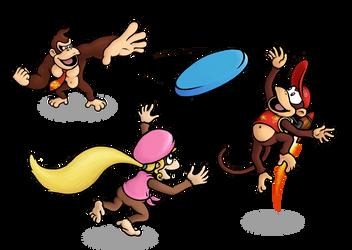 Donkey Kong Frisbee by mattdog1000000