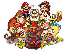 Donkey Kong 35th anniversary! by mattdog1000000