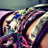 Bracelets. by messofmemoriesxX